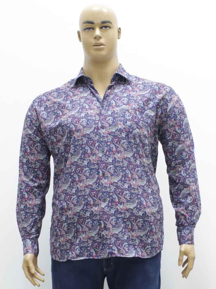 29792b9cfb8cafe Сорочка (рубашка) мужская стрейчевая большого размера, 2018. Магазин  «Большой Папа»